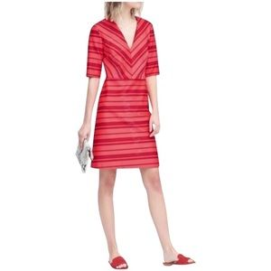 Banana Republic Coral Chevron Striped Dress